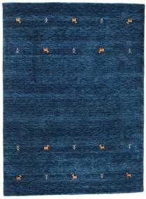 Gabbeh Loom Two Lines - Tummansininen Matto 140X200 Moderni Tummansininen (Villa, Intia)