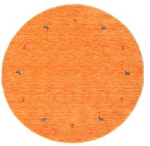 Gabbeh Loom Two Lines - Oranssi Matto Ø 150 Moderni Pyöreä Oranssi (Villa, Intia)