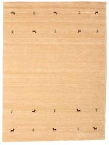 Gabbeh Loom Two Lines - Beige Matto 160X230 Moderni Tummanbeige/Vaaleanruskea/Keltainen (Villa, Intia)