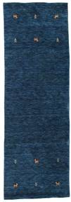 Gabbeh Loom Two Lines - Tummansininen Matto 80X250 Moderni Käytävämatto Tummansininen (Villa, Intia)