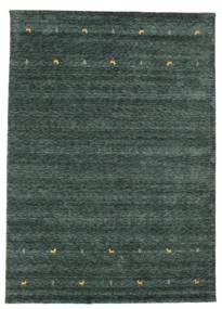 Gabbeh Loom Two Lines - Tummanharmaa/Vihreä Matto 240X340 Moderni Tummanvihreä/Musta (Villa, Intia)