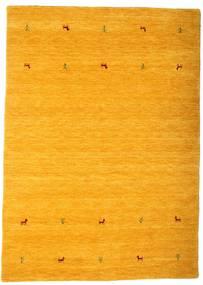 Gabbeh Loom Two Lines - Keltainen Matto 160X230 Moderni Oranssi/Vaaleanruskea (Villa, Intia)