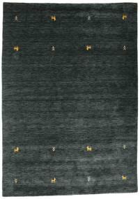 Gabbeh Loom Two Lines - Tummanharmaa/Vihreä Matto 160X230 Moderni Musta (Villa, Intia)