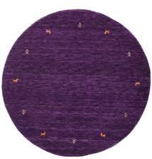 Gabbeh Loom Two Lines - Violetti Matto Ø 150 Moderni Pyöreä Tummanvioletti (Villa, Intia)