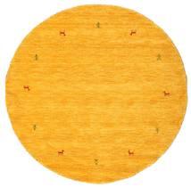 Gabbeh Loom Two Lines - Keltainen Matto Ø 150 Moderni Pyöreä Keltainen/Oranssi (Villa, Intia)