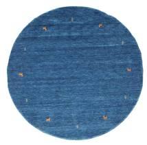 Gabbeh Loom Two Lines - Sininen Matto Ø 200 Moderni Pyöreä Tummansininen/Sininen (Villa, Intia)
