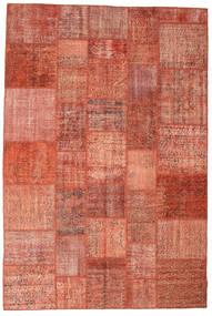 Patchwork Matto 202X302 Moderni Käsinsolmittu Punainen/Tummanpunainen (Villa, Turkki)