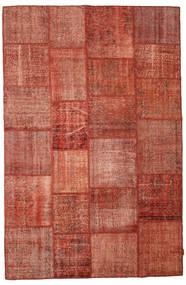 Patchwork Matto 195X300 Moderni Käsinsolmittu Punainen/Tummanpunainen (Villa, Turkki)