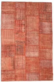 Patchwork Matto 198X302 Moderni Käsinsolmittu Punainen/Vaaleanpunainen/Tummanpunainen (Villa, Turkki)