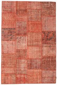 Patchwork Matto 197X300 Moderni Käsinsolmittu Punainen/Vaaleanpunainen (Villa, Turkki)