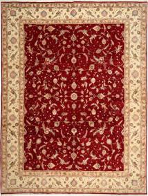 Tabriz 50 Raj Matto 290X398 Itämainen Käsinsolmittu Tummanpunainen/Ruoste Isot (Villa/Silkki, Persia/Iran)