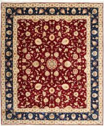 Tabriz 50 Raj Matto 250X298 Itämainen Käsinsolmittu Beige/Tummanpunainen Isot (Villa/Silkki, Persia/Iran)