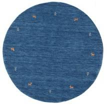 Gabbeh Loom Two Lines - Sininen Matto Ø 150 Moderni Pyöreä Tummansininen/Sininen (Villa, Intia)