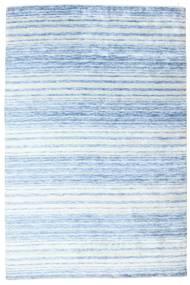 Bamboo Silkki Handloom Matto 202X304 Moderni Käsinsolmittu Vaaleansininen/Beige ( Intia)