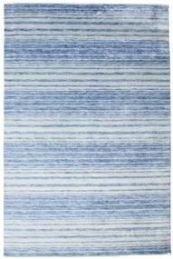 Bamboo Silkki Handloom Matto 199X304 Moderni Käsinsolmittu Vaaleansininen/Sininen ( Intia)