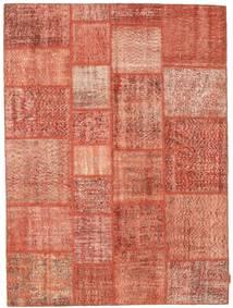 Patchwork Matto 170X231 Moderni Käsinsolmittu Vaaleanpunainen/Punainen (Villa, Turkki)