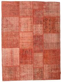 Patchwork Matto 170X231 Moderni Käsinsolmittu Punainen/Vaaleanpunainen (Villa, Turkki)