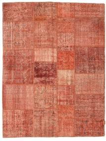 Patchwork Matto 175X230 Moderni Käsinsolmittu Punainen/Tummanpunainen/Vaaleanpunainen (Villa, Turkki)