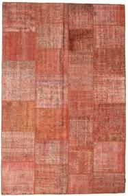 Patchwork Matto 196X300 Moderni Käsinsolmittu Punainen/Tummanpunainen (Villa, Turkki)