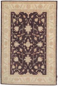 Ziegler Matto 164X250 Itämainen Käsinsolmittu Tummanruskea/Tummanbeige (Villa, Pakistan)