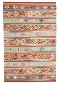 Kelim Anatolian Matto 100X160 Moderni Käsinkudottu Tummanpunainen/Vaaleanharmaa (Villa, Intia)