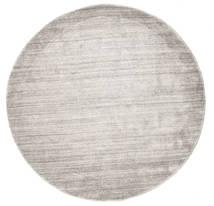 Bamboo Silkki Loom - Warm Harmaa Matto Ø 150 Moderni Pyöreä Vaaleanharmaa ( Intia)