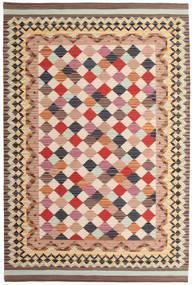 Kelim Caspian Matto 190X290 Moderni Käsinkudottu Vaaleanruskea/Beige (Villa, Intia)