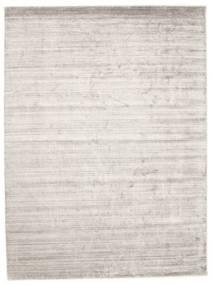 Bamboo Silkki Loom - Warm Harmaa Matto 300X400 Moderni Vaaleanharmaa/Valkoinen/Creme Isot ( Intia)