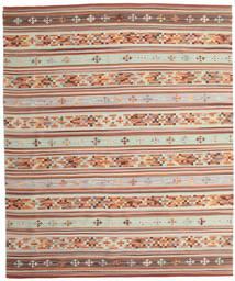 Kelim Anatolian Matto 240X290 Moderni Käsinkudottu Tummanpunainen/Beige (Villa, Intia)