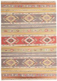 Kelim Nimrud Matto 160X230 Moderni Käsinkudottu Vaaleanharmaa/Tummanbeige (Villa, Intia)