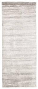 Bamboo Silkki Loom - Warm Harmaa Matto 80X200 Moderni Käytävämatto Vaaleanharmaa/Valkoinen/Creme ( Intia)