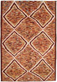 Barchi/Moroccan Berber Matto 197X292 Moderni Käsinsolmittu Tummanpunainen/Punainen (Villa, Afganistan)