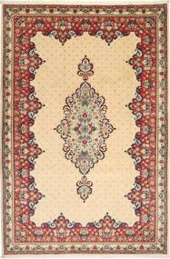Yazd Matto 202X304 Itämainen Käsinsolmittu Beige/Tummanbeige (Villa, Persia/Iran)