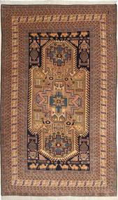 Ardebil Matto 162X264 Itämainen Käsinsolmittu Tummanpunainen/Vaaleanruskea (Villa, Persia/Iran)
