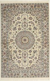 Nain 6La Matto 118X182 Itämainen Käsinsolmittu Vaaleanharmaa/Beige (Villa/Silkki, Persia/Iran)