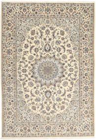 Nain 6La Matto 167X242 Itämainen Käsinsolmittu Vaaleanharmaa/Beige (Villa/Silkki, Persia/Iran)