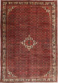 Hosseinabad Matto 253X358 Itämainen Käsinsolmittu Tummanpunainen/Tummanruskea Isot (Villa, Persia/Iran)
