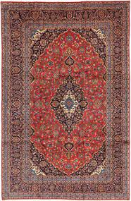 Keshan Matto 246X378 Itämainen Käsinsolmittu Tummanpunainen/Tummanruskea (Villa, Persia/Iran)
