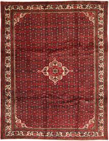 Hosseinabad Matto 258X338 Itämainen Käsinsolmittu Tummanpunainen/Tummanruskea Isot (Villa, Persia/Iran)