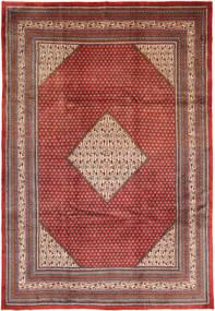 Sarough Mir Matto 258X375 Itämainen Käsinsolmittu Tummanpunainen/Tummanruskea Isot (Villa, Persia/Iran)