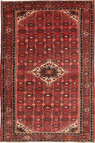 Hosseinabad Matto 195X305 Itämainen Käsinsolmittu Tummanpunainen/Ruoste (Villa, Persia/Iran)