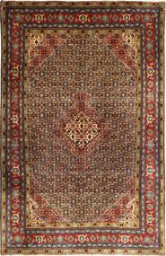 Ardebil Matto 195X298 Itämainen Käsinsolmittu Tummanruskea/Tummanpunainen (Villa, Persia/Iran)