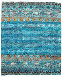 Quito - Turquoise Matto 240X290 Moderni Käsinsolmittu Siniturkoosi/Sininen (Silkki, Intia)