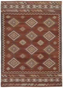 Kelim Malatya Matto 240X340 Moderni Käsinkudottu Tummanpunainen/Punainen (Villa, Intia)