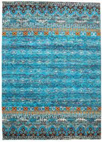Quito - Turquoise Matto 240X340 Moderni Käsinsolmittu Siniturkoosi/Vaaleanharmaa (Silkki, Intia)