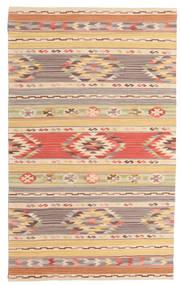 Kelim Nimrud Matto 100X160 Moderni Käsinkudottu Tummanbeige/Beige (Villa, Intia)