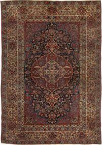 Isfahan Antiikki Matto 147X215 Itämainen Käsinsolmittu Tummanpunainen/Tummanruskea (Villa, Persia/Iran)