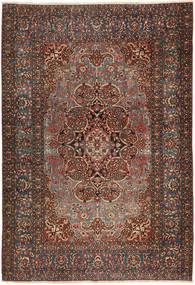 Isfahan Antiikki Matto 138X207 Itämainen Käsinsolmittu Tummanruskea/Tummanpunainen (Villa, Persia/Iran)