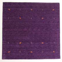 Gabbeh Loom Two Lines - Violetti Matto 200X200 Moderni Neliö Tummanvioletti/Violetti (Villa, Intia)