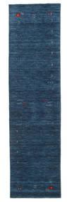 Gabbeh Loom Frame - Tummansininen Matto 80X300 Moderni Käytävämatto Tummansininen (Villa, Intia)